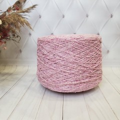 Итальянская пряжа SMUZZI от G&G Filati (твид, меринос 70%, шелк 30%, 400м/100гр) бледно розовый