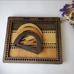 Деревянная Основа для вязаной и плетеной сумки